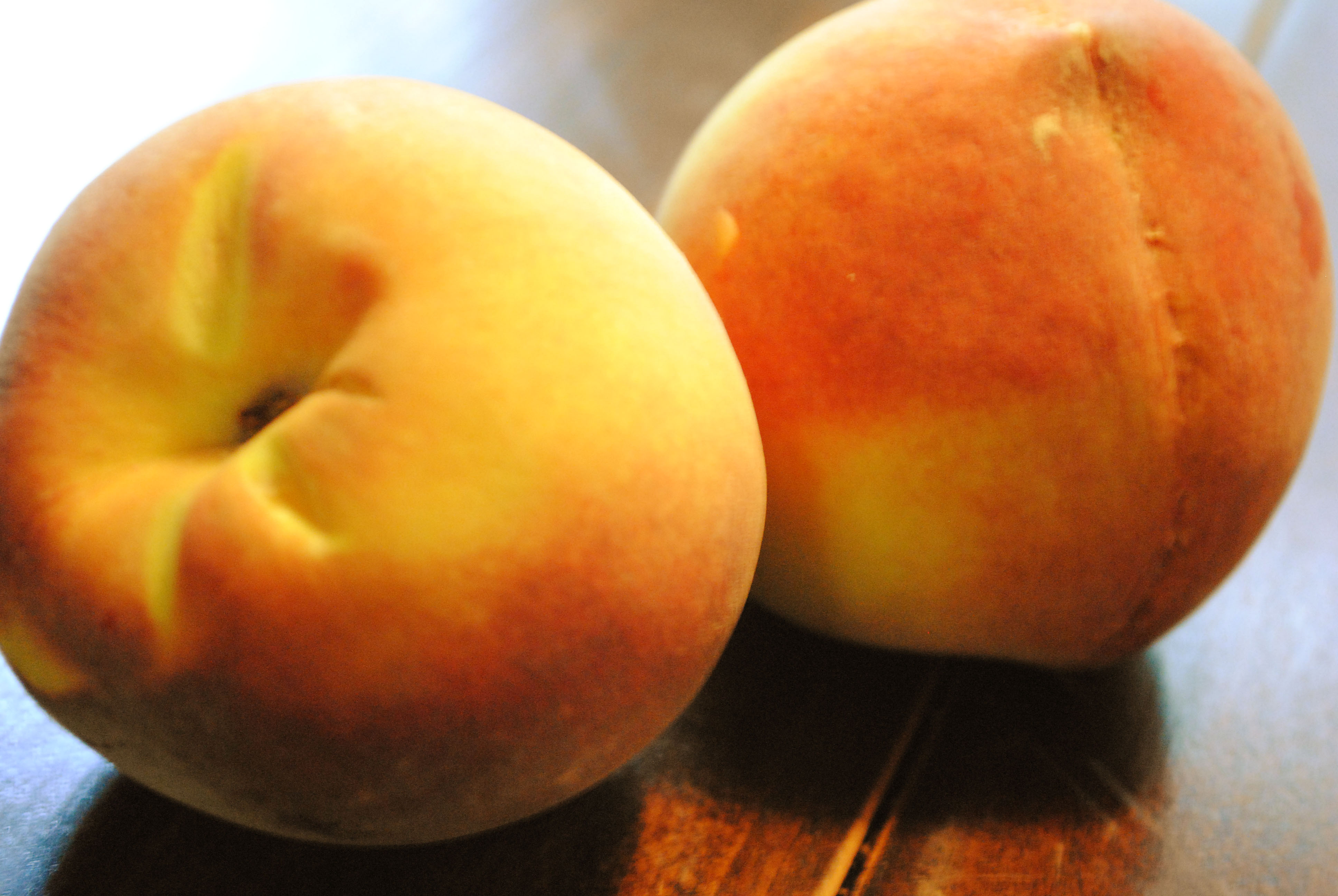 Peach Crisp with Maple Cream Sauce - Honey Do Kitchen